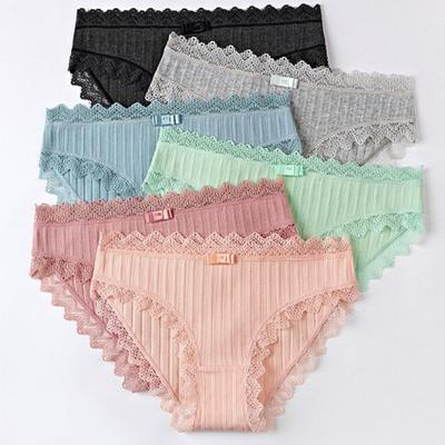 Femmes Lady Full Culotte Dentelle Sous-vêtements Slips Lingerie Culotte S M L XL 2XL 3XL
