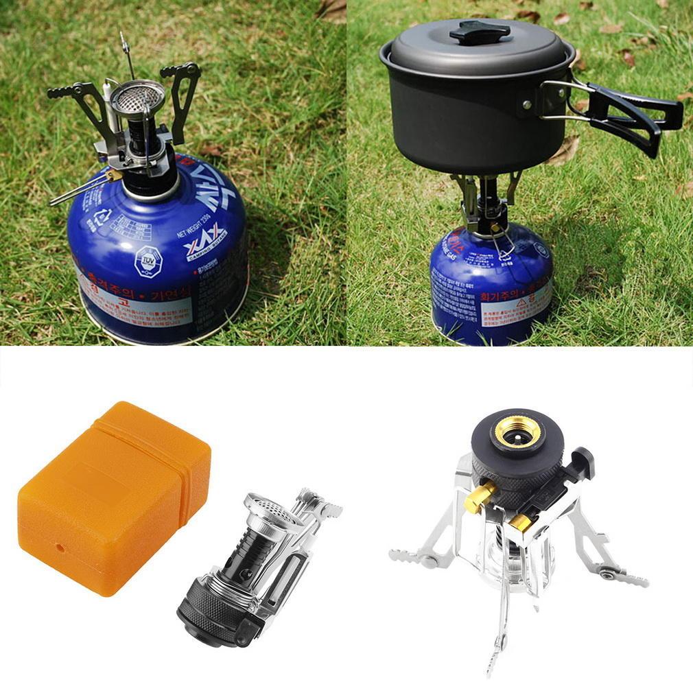 Light Mini Outdoor Folding Durable Metal Camping Gas Cook Stove Furnace Burner