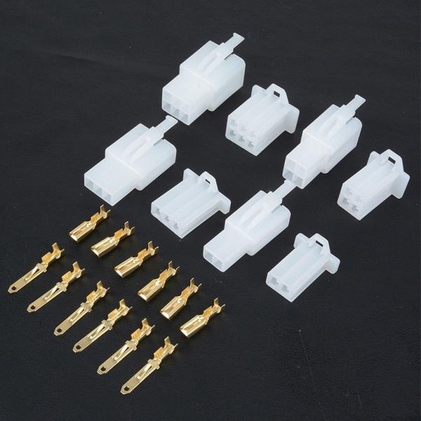 380PCS Electrical 2.8mm 2 3 4 6 Pin Wire Connector Terminal Set For Motorcycle