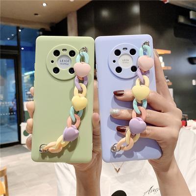 Cute Candy Wrist Chain Bracelet Silicone Phone Case For iPhone 13 Samsung A22 A32 A42 Huawei Y6p Xiaomi Poco X3 Pro X3 NFC