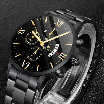 Men'S All-Steel Watch Luxury Waterproof Quartz Watch Charm Men'S Business Sports Watch
