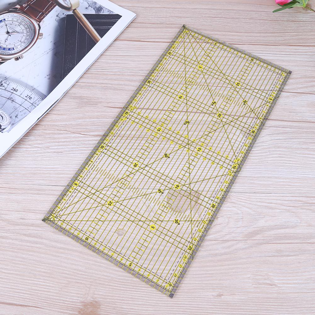 Wmaple Transparent Patchwork Ruler Acrylic Quilting Template Ruler Crafts Sewing Handmade Drawing Measuring Tool