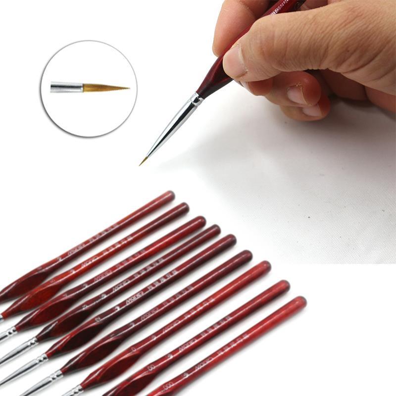 Art Tools Craft Point Tip Artist Paint Brush Line Drawing Pen Nylon Fiber Hair