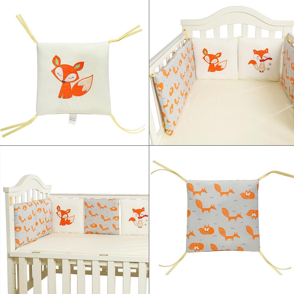 Bumpers The Cheapest Price 6 Pcs Per Set 30*30cm Cotton Crib Bedding Bed Bumper Fence