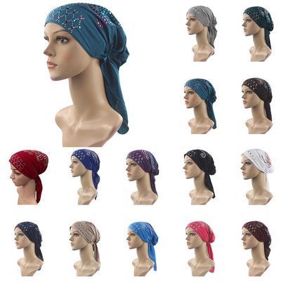 Muslim Women Head Cap Hijab Hat Chemo Inner Cap Hair Loss Head Scarf Turban  Wrap