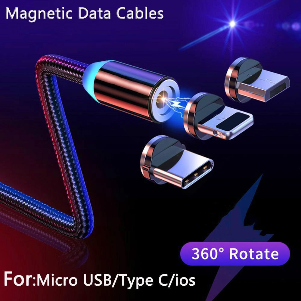 Магнитный micro USB кабель для iPhone Samsung Android Мобильный телефон Быстрая зарядка USB Тип C Кабельное зарядное устройство Wir – купить по низким ценам в интернет-магазине Joom