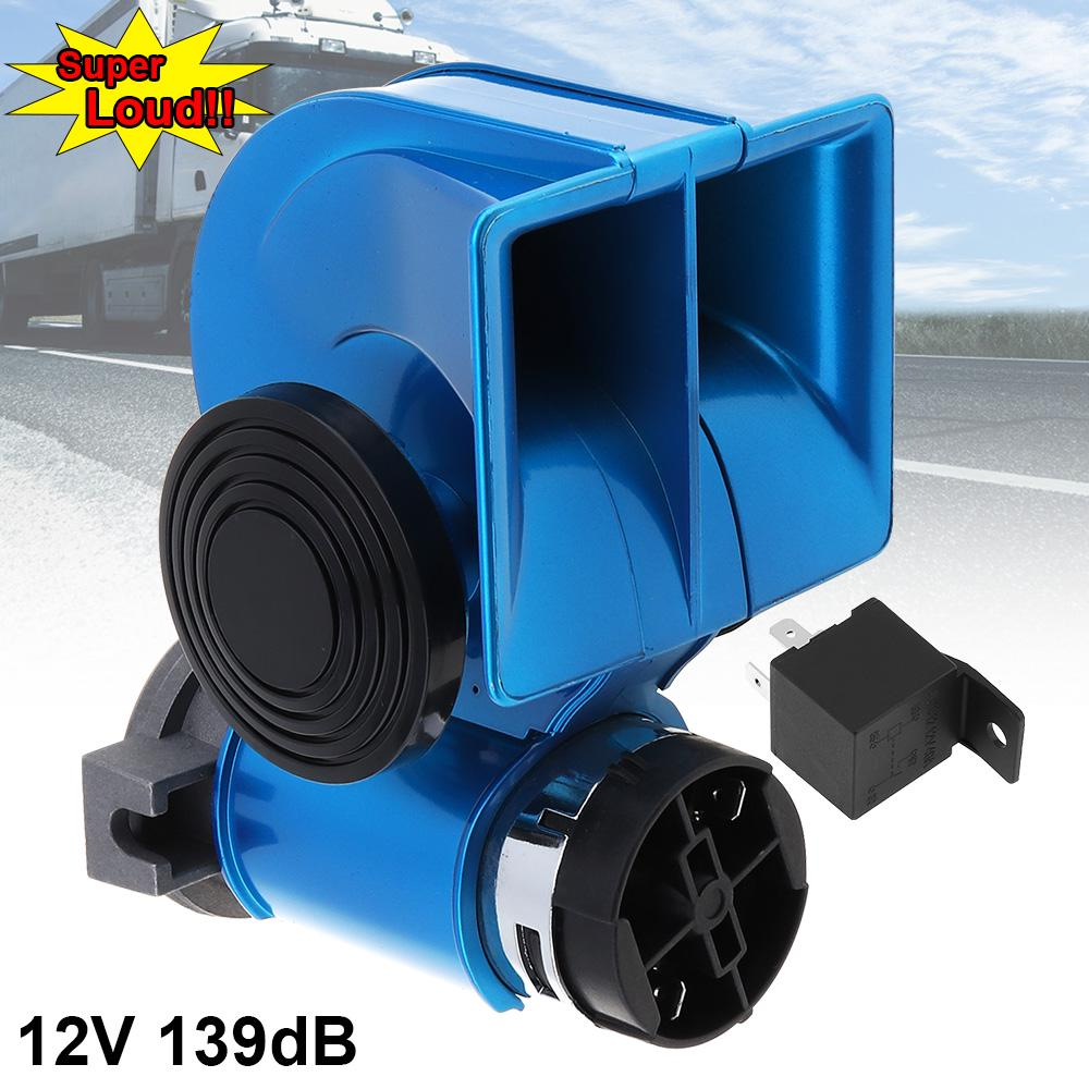 12V 139DB Loud Snail Mini Electronic Dual Air Horn For Car Motorcycle Yacht Boat