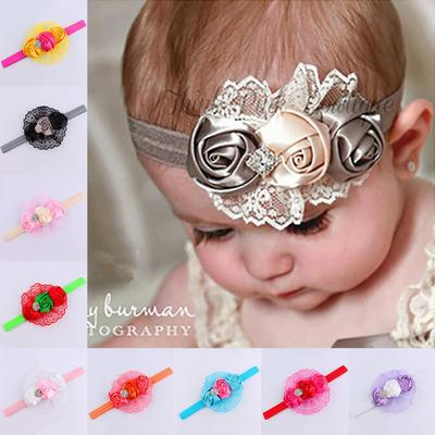 Toddler Baby Girls Kids Flower Party Headband Hair Band Photo Prop Lovely OX KQ
