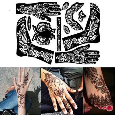 1 Sheet Paints Hollow Drawing Tattoo Stencils Body Art Template Temporary Decal India Henna Kit Buy At A Low Prices On Joom E Commerce Platform