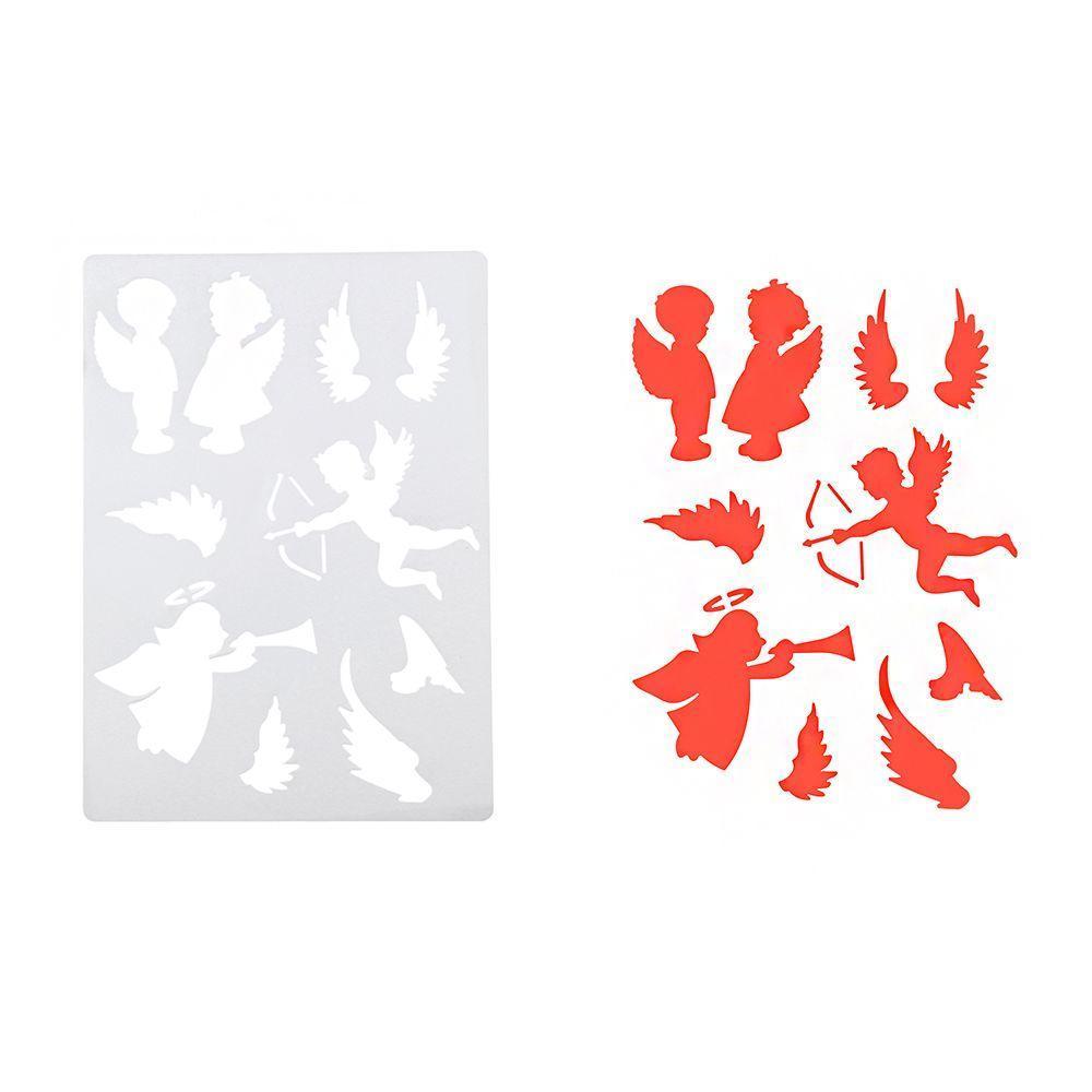 2Pcs Wände malen Prägung Scrapbooking Schablonen Papierkarten DIY ...