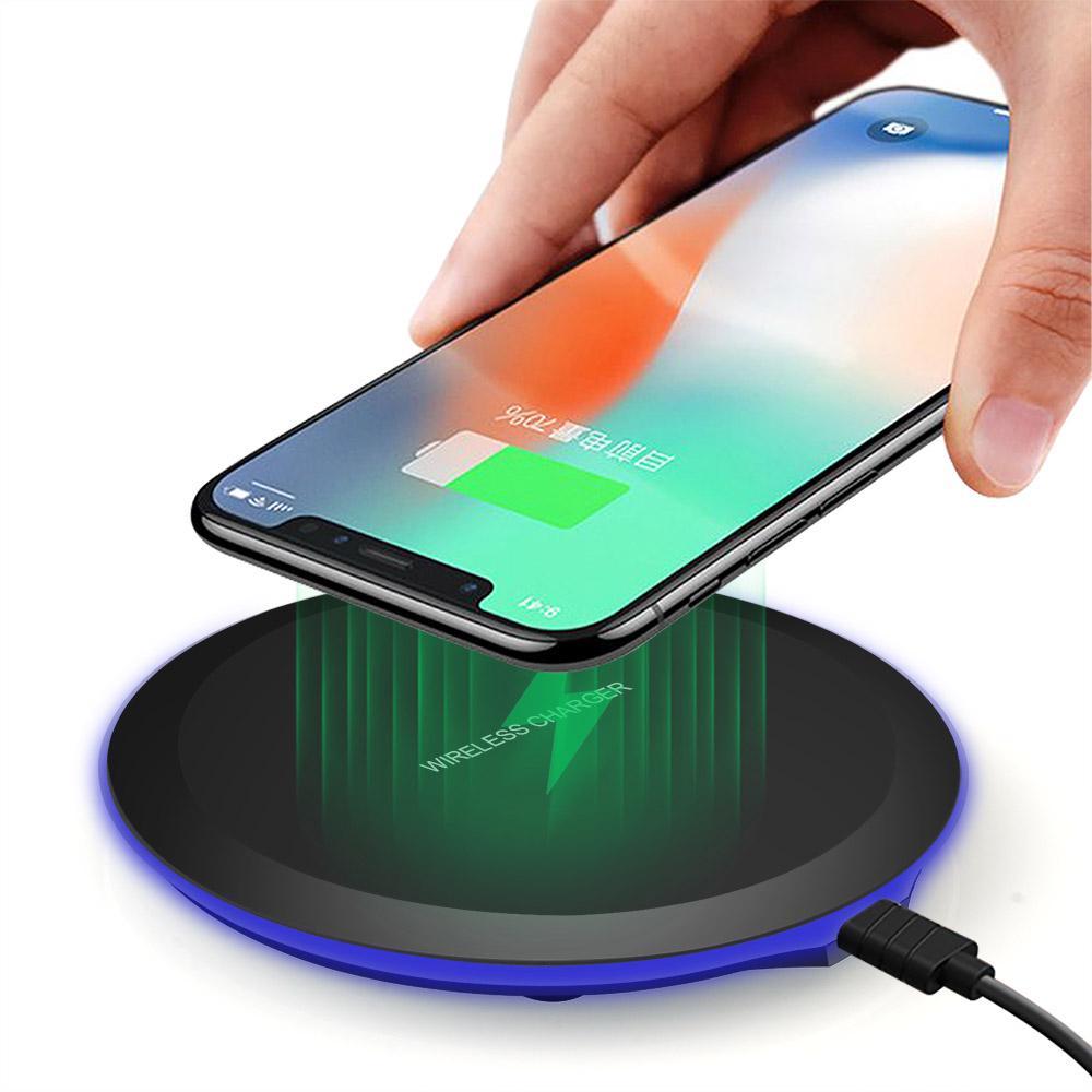 Ци беспроводное зарядное устройство для iPhone X 8 плюс XS Макс XR беспроводной зарядки Pad для Samsung Галактика S8 S9 S7 – купить по низким ценам в интернет-магазине Joom