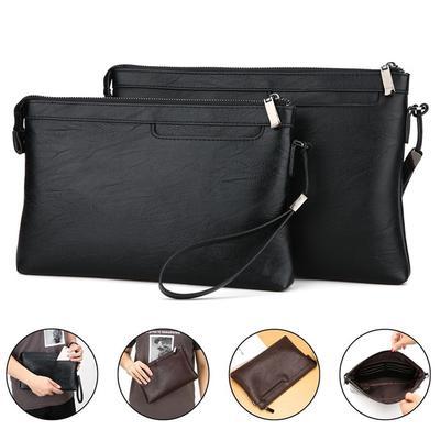 fa919a06eca1 Стиль моды мужчин сумочка молния кошелек многофункциональный бизнес  сцепления мужской клатч с размерами