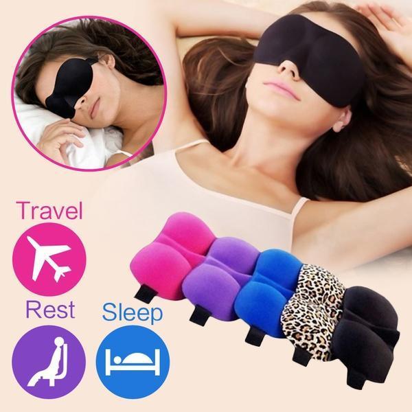 眼罩3d眼罩3D立体无痕护眼罩男女旅行航空飞机午休遮光用睡眠眼罩