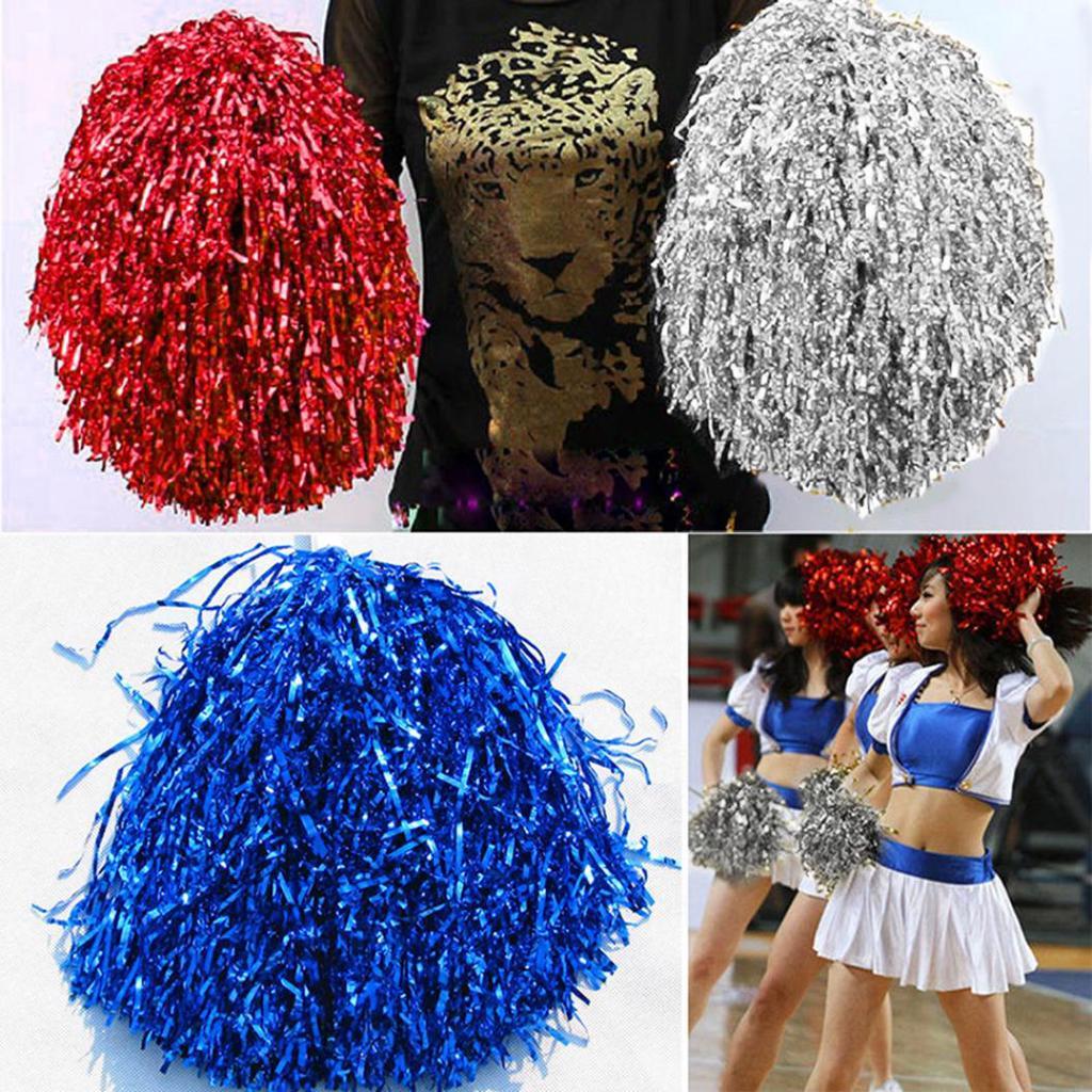 Cheerleading Cheering Pompoms Waver Fancy Dress Costume Pom Dance Practical