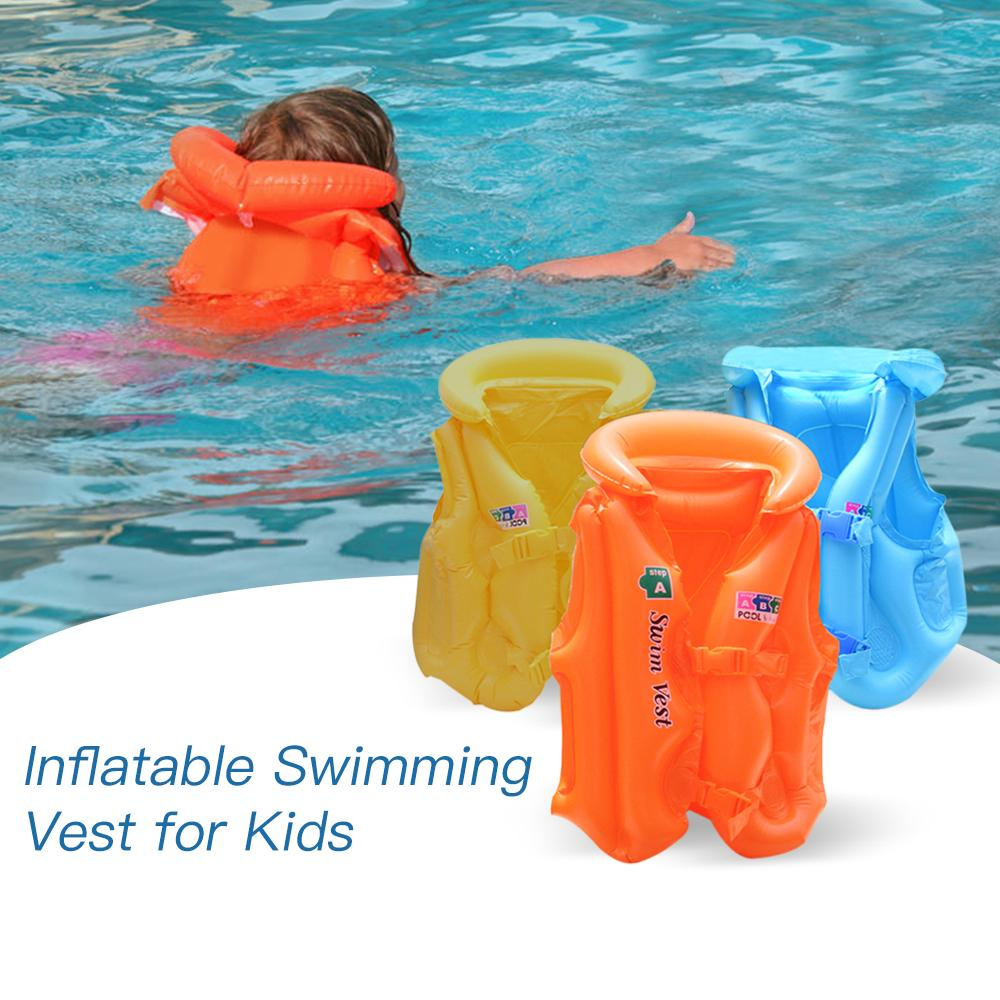 Kids Safe Inflatable Life Vest Water Sport Jacket Swimming Wear Safety Swimsuit