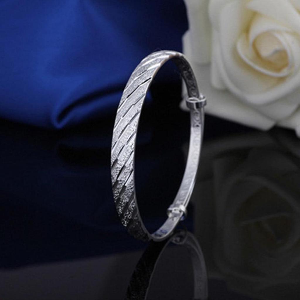 Fashion Women/'s Jewellery Silver Plated Meteor Shower Bangle Bracelet Gifts T