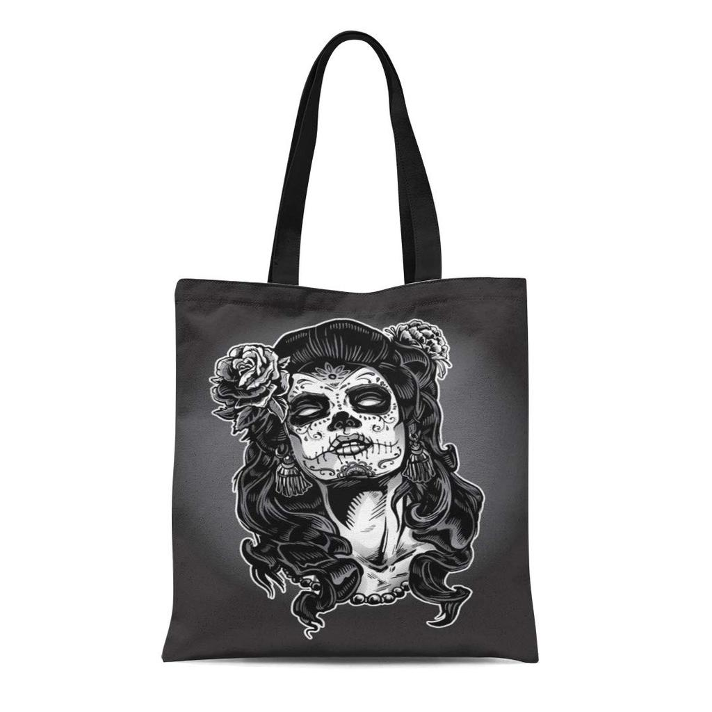 Astrology Skull Leather Tote