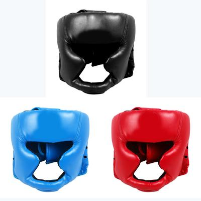 2pc Boxing Taekwon Helmet MMA Head Gear Protector Pads Fighting Face Guard