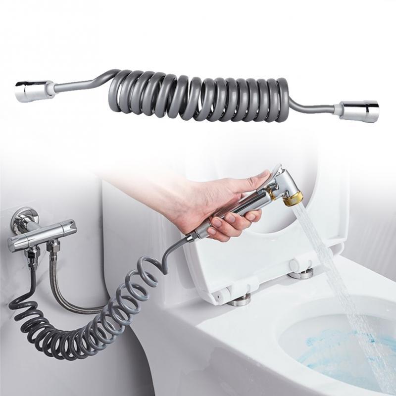 Flexible Shower Hose Bathroom Connector Pipe 2m Nuts Toilet Bidet Sprayer Nozzle