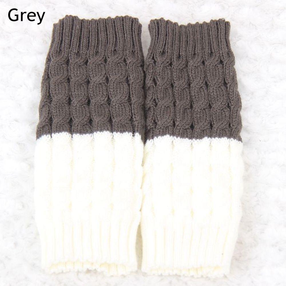 Pata arranque puños mezclada colores cálidos calcetines de punto de ...