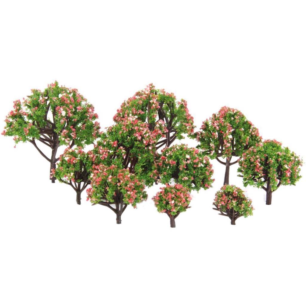 5x Kunststoff Modell Bäume Eisenbahn Zug Park Landschafft Bonsai Deko DIY 15cm
