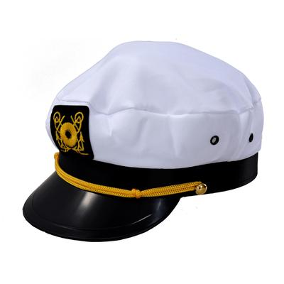 Blanco marino marinero gorro capitán Marino Marin algodón uniforme Color  blanco negro 4fecd3679d2