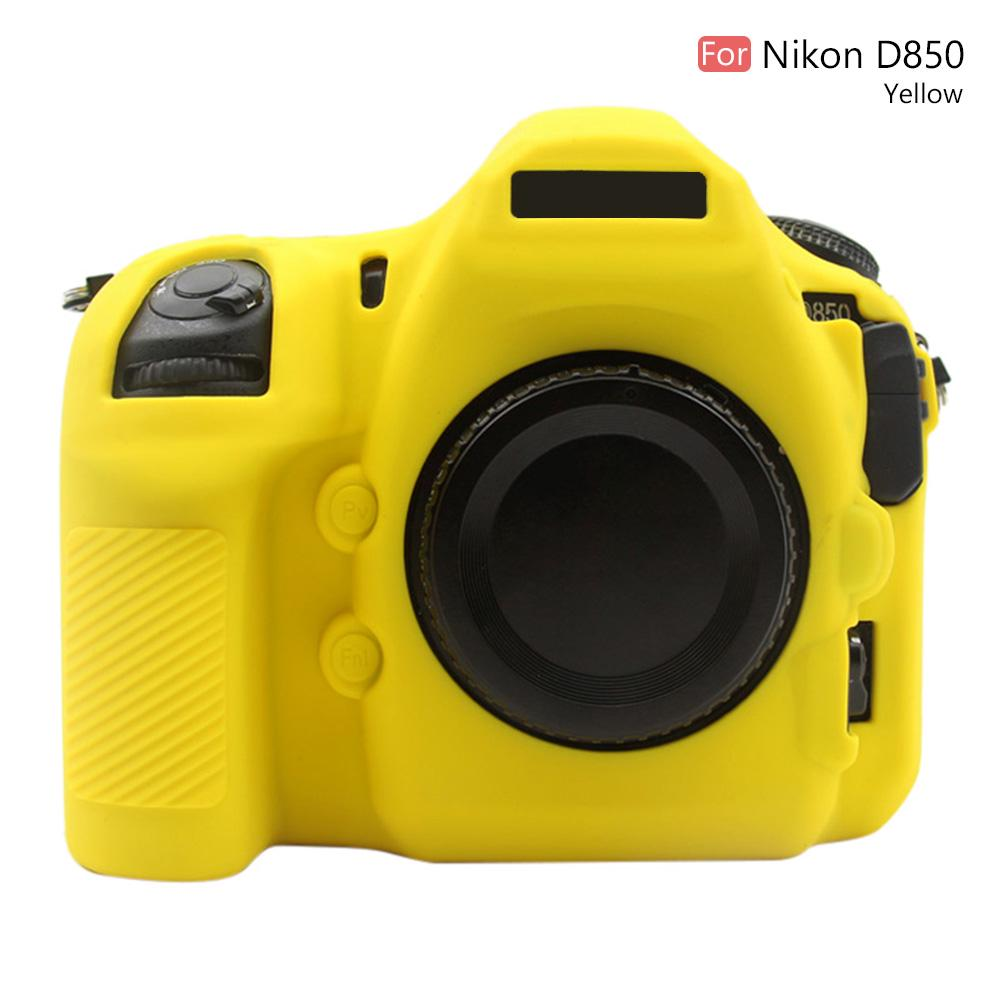Color : Red Camouflage Protective Camera Case Soft Silicone Protective Case for Nikon D850