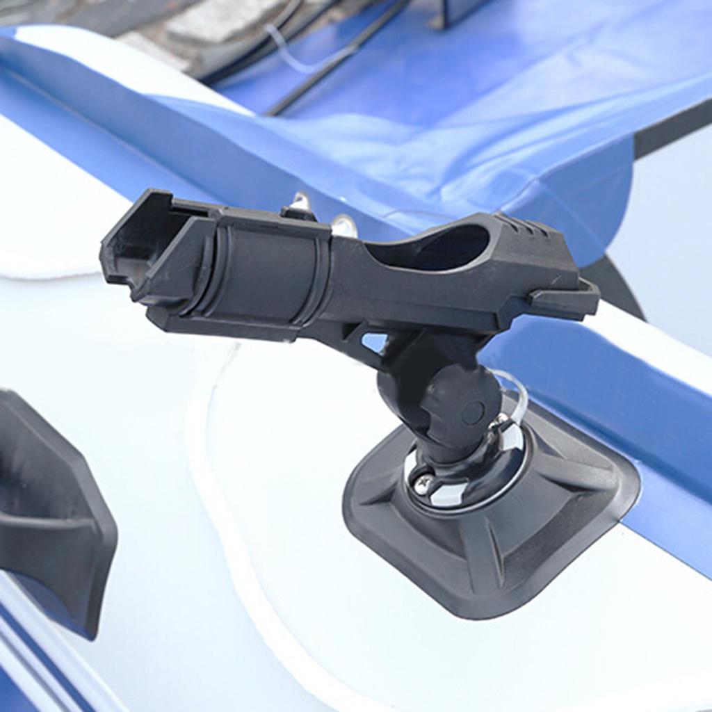 2Pcs 360° Adjustable Boat Canoe Yacht Kayak Fishing Rod Holder Rack Bracket