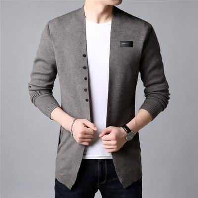 Cardigan Men Casual Knitted Cotton Wool Sweater Autumn