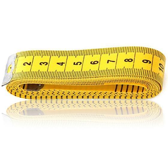 Mini Rond corps Measuring Ruler coudre Tissu Tailleur Ruban à mesurer souple plat LD