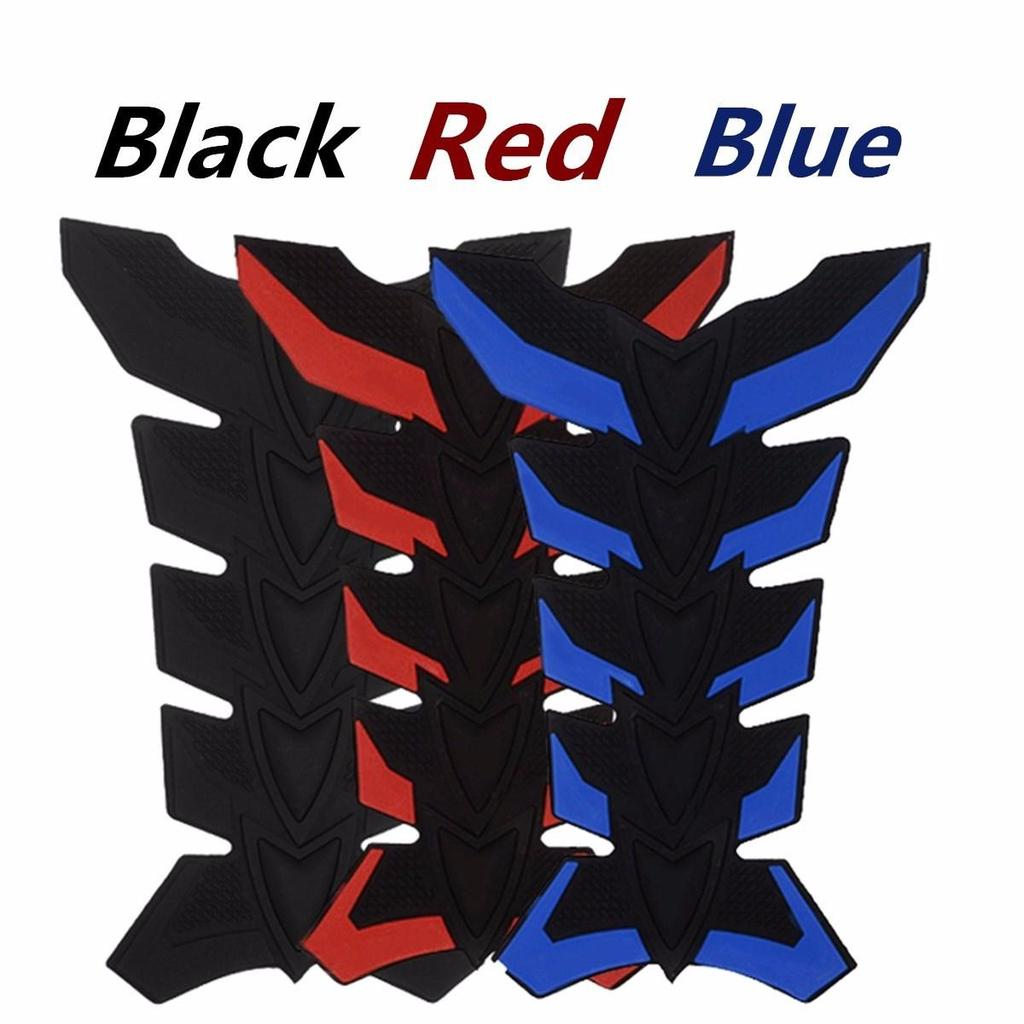 Color : Blue Red,Blue,White Rubber Tank Pad Protector Gas Oil Fuel Decal Sticker Motorcycle ATV Vehicles Tank Sticker