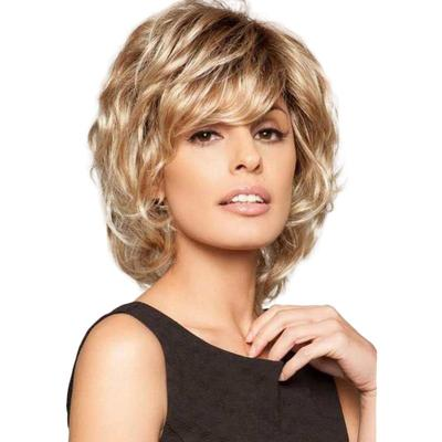 Blonde Unicorn 10 Fashion Side Part Hair Short Curly Wavy Slight Fluffy Human Hair Wig Buy At A Low Prices On Joom E Commerce Platform