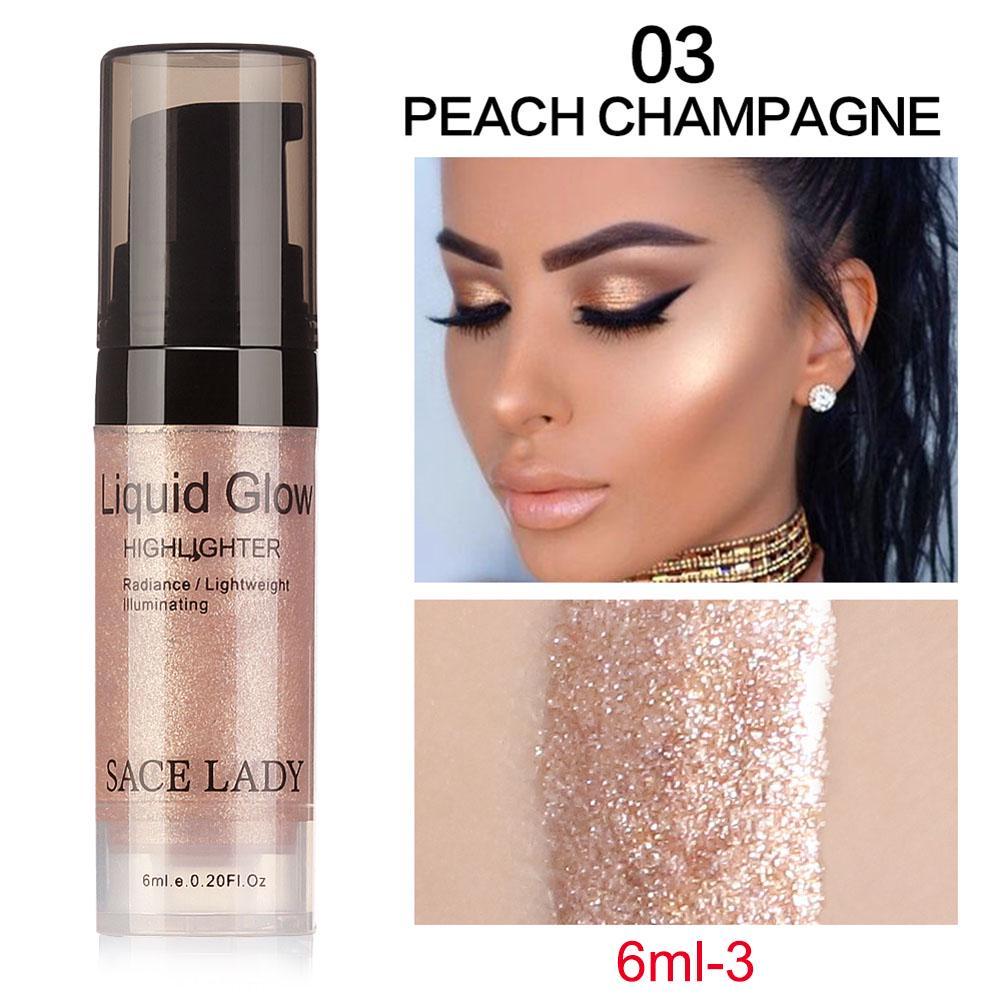 SACE LADY Face Highlighter Cream Liquid Illuminator Makeup Shimmer ... 88edeb274c77