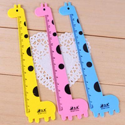 3pcs 15cm Cute Giraffe Animal Ruler Office Supplies Creative Stationery Kawaii Rulers