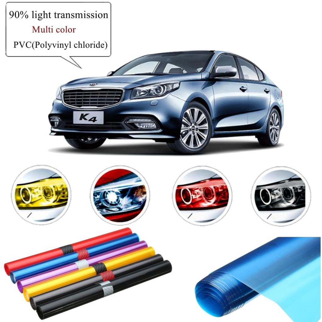 Auto Car Any shade Colorful Taillight Headlight PVC Film Cover Overlay DIY Trim