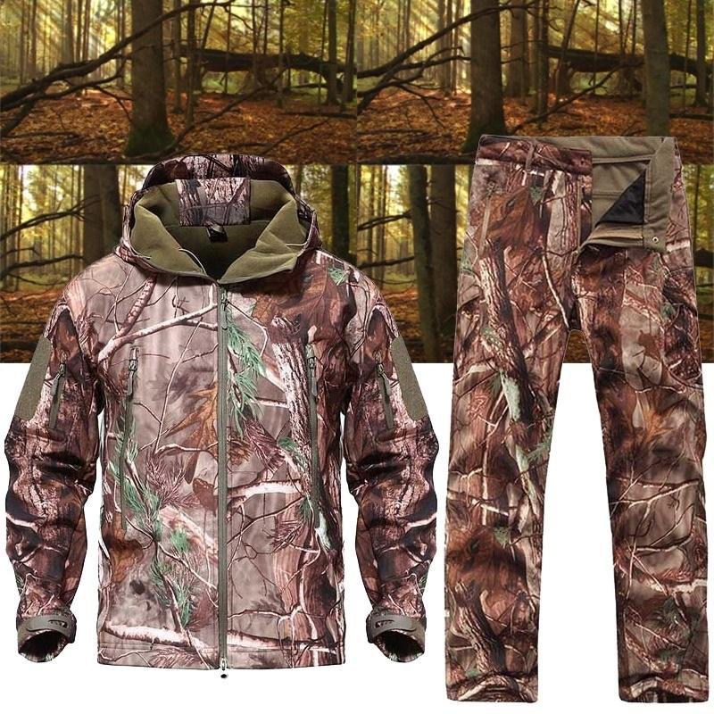Armee Camouflage Coat Military Tactical Jacket Shell Waterproof Windproof Jacket Winter