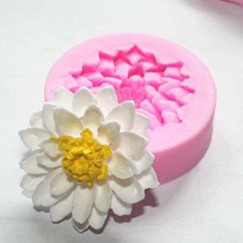 食品级硅胶模具翻糖模 巧克力模 蕾丝模 蛋糕装饰模 莲花模