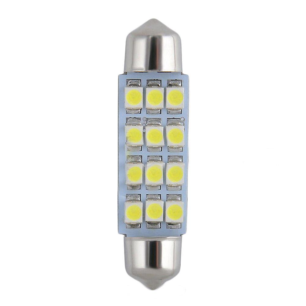 2x 41mm 3528 12 SMD LED Car Interior Festoon Dome Bulb Lamp Light 12V White