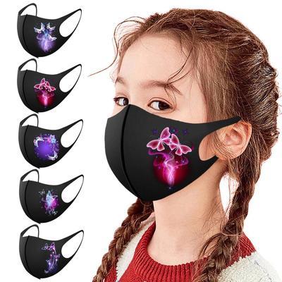CHAMER 1PC Children Prints Protection Face Mask Washable Earloop Mask
