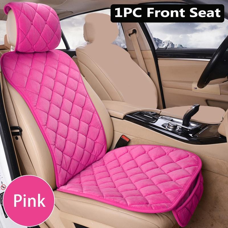 Soft Plush Car Seat Cover Breathable Mat Pad Black Auto Front Chair Cushion 1pc