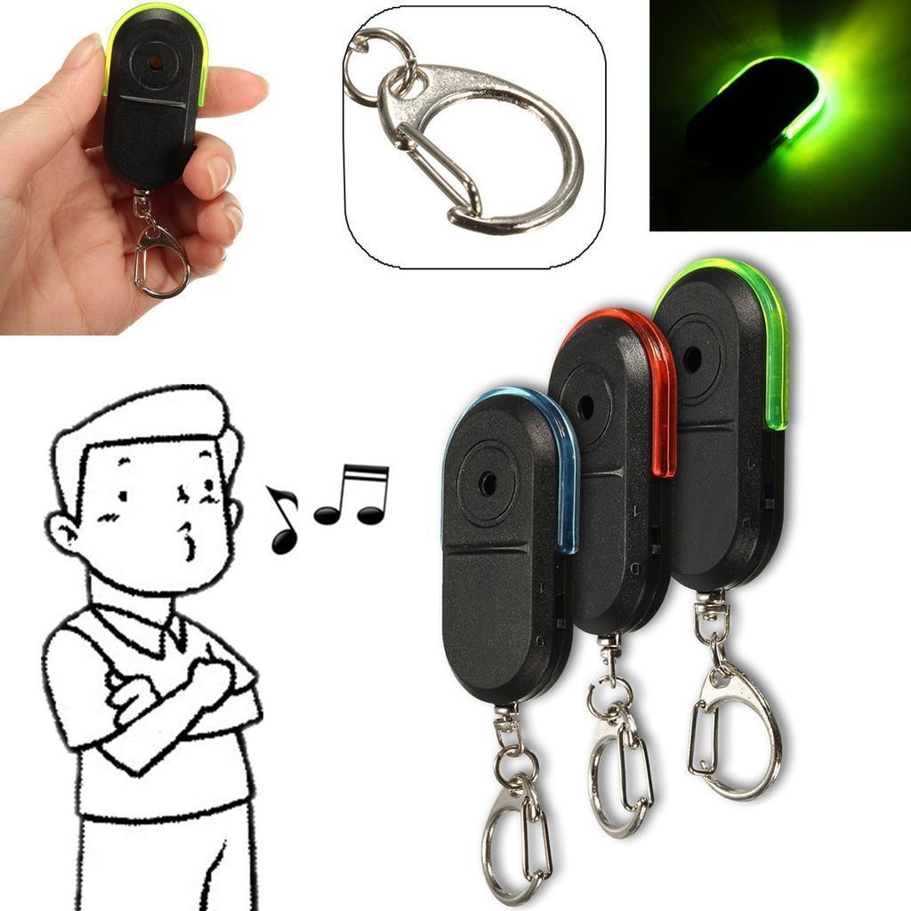 Беспроводной анти-потерянный ключ Finder локатор Брелок свисток будильника Светодиодные фото