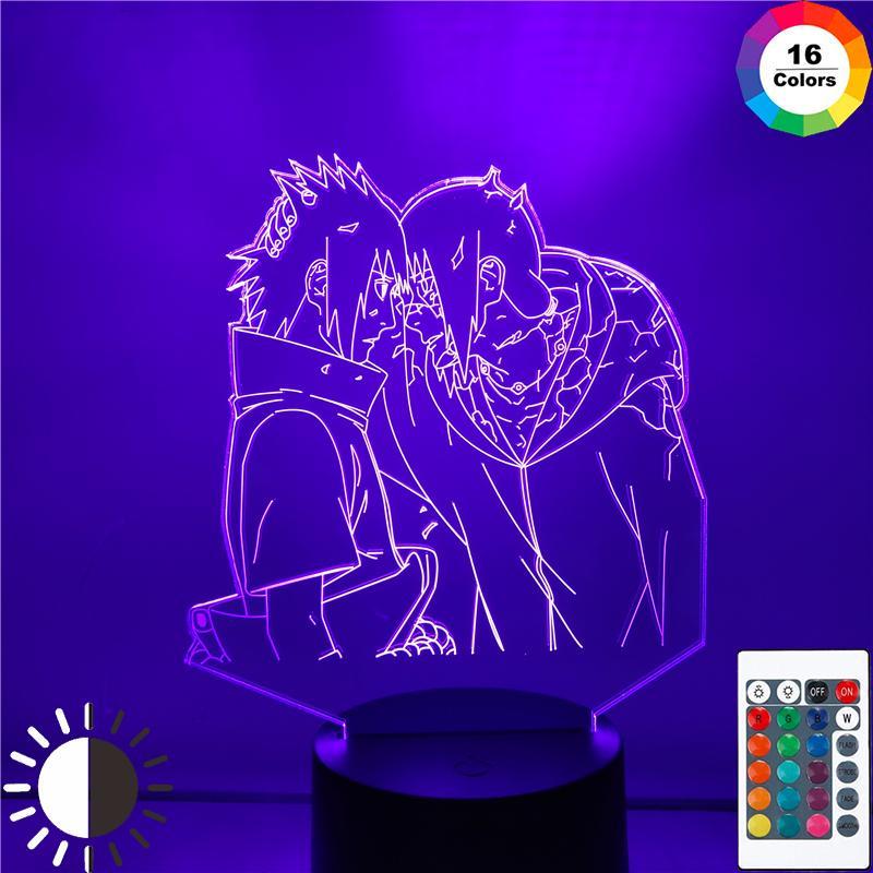 Night Light Lamp Decoration Naruto Figure Uchiha Itachi 3D Anime Exclusive Actio