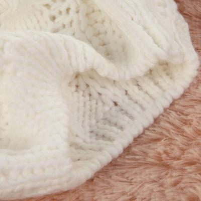 Mujer invierno trenzado anchos gorrita tejida del ganchillo del sombrero  hecho punto d85cca1c2df