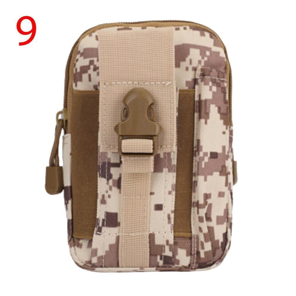 Climbing Bags Useful Multifunction Outdoor Camping Hiking Tactical Phone Bag Men Camouflage Waist Bag Hook Loop Belt Pouch Oxford Cloth Mobile Case Low Price