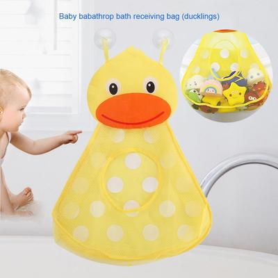 Kids Baby Bath Time Toy Tidy Storage Suction Bag Mesh Bathroom Organiser Net
