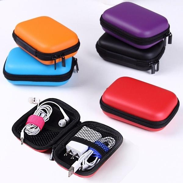Organizer Zipper Bag Fabric Travel Storage Bag USB Hard Drive Cable Cord Case 1x