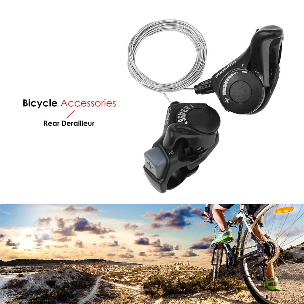 2pcs Bicycle Shifter Speed Universal Lever Mountain Bike W// Cable Trigger Parts