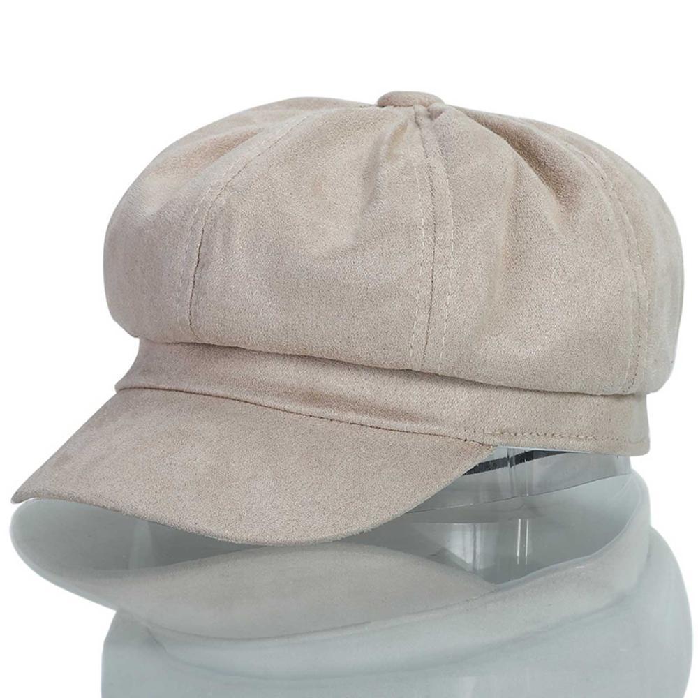 6f107ac97 Berets welrog autumn winter women's duckbill cap girls warm artist cotton  women hat bouffant newsboy cap