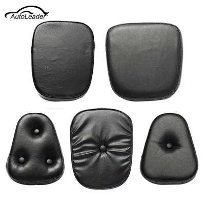 Blacke Motorcycle Sissy Bar Backrest Cushion Pad Mat For Harley Chopper Cruiser