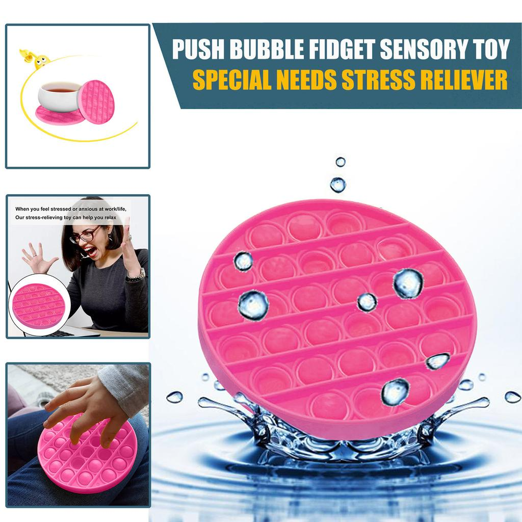 Yellow Ninge Stress Reliever-Push Pop it Bubble Fidget Sensory Toy Autism Special Needs,Stress and Anxiety and Boredom Relief,The Travel Game for Kids,Family and Friends.
